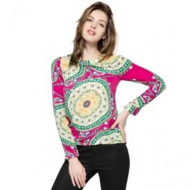 Floral Print Long Sleeve Chiffon Shirt