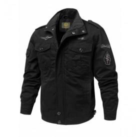 Appliques Zipper Casual Jacket