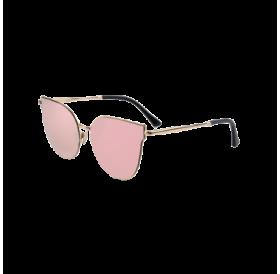 Golden-Rim Cat Eye Sunglasses For Women