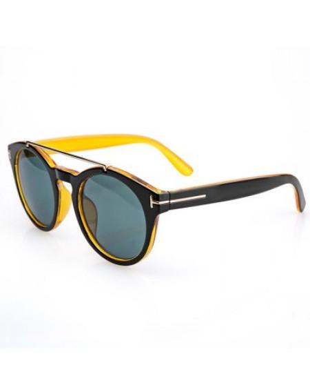 Alloy Insert Color Block Sunglasses For Women