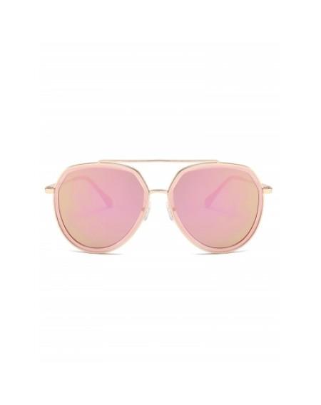 Anti-fatigue Metal Bar Embellished Pilot Sunglasses
