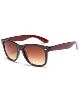 Anti UV Fashion Street Snap Unisex Tea-Colored Sunglasses