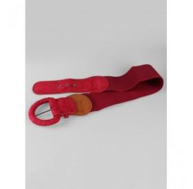 Suede Buckle Stretch Elastic Dress Belt